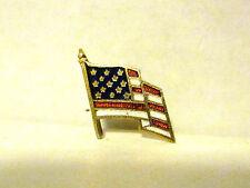 Lapel Pin United States Flag,Brass,Enamel