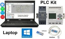 Automation Laptop w PLC HMI Starter Kit Easy Programming IEC Software Win 10 USB