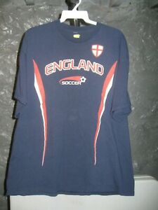 England Soccer Classic Blue England Soccer Extra Large T-Shirt