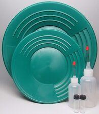 """Martin Prospecting 10"""" & 14"""" GOLD PAN Kit Made In INMAN SC Green"""