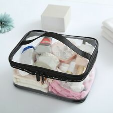 Large Clear Zipper Cosmetic Plastic Makeup Bag Storage Case Travel Portable