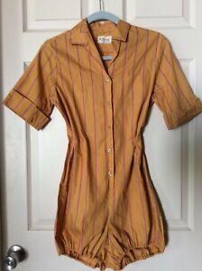 Vintage 1940's 50s Romper Playsuit The Jimi Lady Arrow Gym Suit  13/14