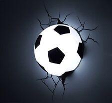 Lámpara Pared Pelota de Futbol LED Dormitorio Juvenil Pegatina Grieta Niños
