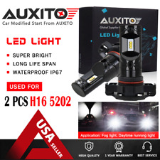 2X AUXITO 5202 H16 LED Fog Light Bulbs 6000K Xenon White 2600LM High Power CSP A