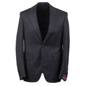 Sartoria Partenopea Dark Gray Soft-Woven Wool Sport Coat 40R (Eu 50) NWT