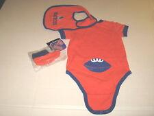3 pc Set Boise State University Broncos Baby Bodysuit Bib Booties NWT 3-6 Months