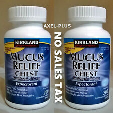 NEW! Kirkland Signature Mucus Relief Chest Expectorant  400 Tablets 400 mg . !