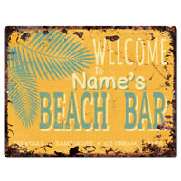 PPWG0076 WELCOME JEREMY/'S GARAGE Chic Sign man cave decor Funny Gift