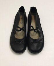 Arcopedico 36 Black Leather Flats Ballet Style Comfort Shoes Softskin