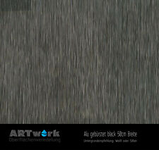 Wassertransferdruck Folie WTD Starterset 2m Alu gebürstet Black + Aktivator