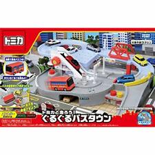 TAKARA TOMY Let's Run with Tomica! Round Bus Town EMS w/ Tracking NEW