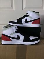 Nike Air Jordan 1 Mid SE Union White Red Black 852542-100 Size 11 - BRAND NEW