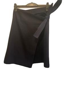 COS Navy Wool Blend Winter Wrap Skirt Size 38/UK 10-12