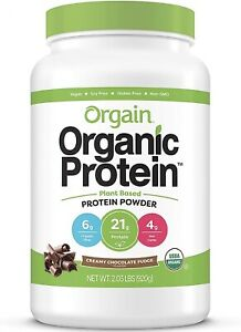 Orgain Organic Plant Based Protein Powder, Creamy Chocolate Fudge -Vegan 2.03 LB