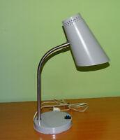 Vintage 1960's Mid Century Goose Neck Metal Desk Lamp, East Europe