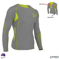 Men's Compression Skin Fit Shirt Long Sleeves Gym Sports Running Base Layer Top
