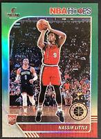 2019-20 NBA Hoops Premium Stock Nassir Little Rookie Green Prizm RC No. 220 MINT