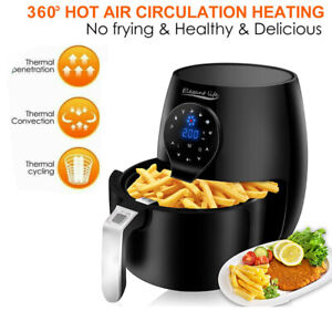 7-in-1 Air Fryer Digital Electric Oven 3.7 QT LED Touch Non-Stick Multi Cooker