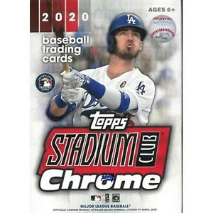 2020 Topps Stadium Club Chrome MLB Baseball card Box BRAND NEW. CHROME ROOKIES!