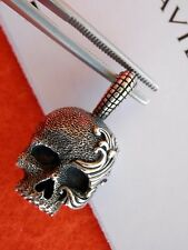 David Yurman Sterling Silver Small Skull Amulet Pendant NWOT
