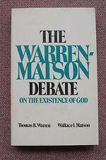 Thomas B. Warren & Wallace Matson Debate on Existence of God Church of Christ VG