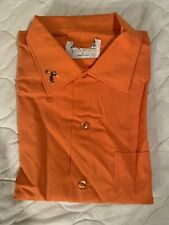 Vtg 50s 60s King Louie Nos Unworn Orange Bowling Shirt W/ Defects Rockabilly L