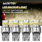 4X 7443 7440 LED Back Up DRL Reverse Brake Light Bulbs W21W Super White 7444 HCN