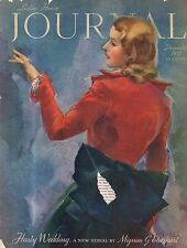 1937 Ladies Home Journal December - Maine Christmases; Let us be gay; Toys;Paris