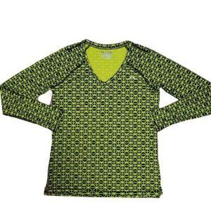 Under Armour Heatgear Fitted Long Sleeve V-neck Shirt Top Womens Size Medium