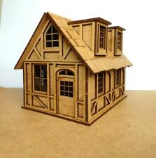 28mm War-game Tudor Style Small House 2mm MDF Laser Cut Kit FPM2