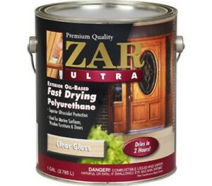 1 Gallon ZAR Clear Gloss Oil Fast Dry Polyurethane 34013 United Gilsonite Lab