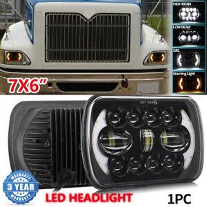 """DOT 7x6"""" INCH LED DRL Headlights For International Harvester 4700 4800 4900 8100"""