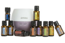 doTERRA Home Essentials Kit w/Petal Diffuser-Therapeutic Grade Oils Sealed/New