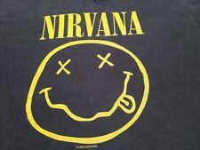 Vtg 1992 Nirvana SMiley Face Grunge kurt Cobain concert tour 90s music t shirt M