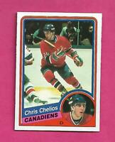 1984-85 OPC # 259 CANADIENS CHRIS CHELIOS  ROOKIE NRMT+ CARD (INV# D0363)