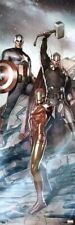 AVENGERS ~ THOR CAPTAIN AMERICA IRON MAN ~ 12x36 ART POSTER ~ Marvel Comic Book