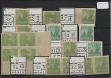 SBZ 32 großes Lot Plattenfehler I-X und XIII 11 Werte postfrisch (B04659)