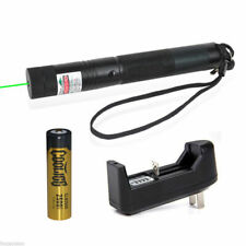 Green Laser Pointer Pen 532nm Lazer Visible Beam & Battery & Charger