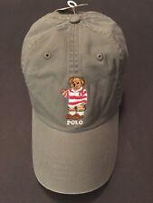 Polo Ralph Lauren Bear Hat Baseball Cap NWT Gray 100% Authentic