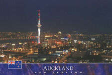 Postcard: auckland City en la noche, nueva zelanda-Auckland City by night