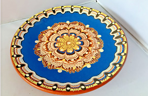 CLEY CERAMIC PLATES HAND MADE 21,24,26cm BEAUTIFUL AND COLOURFUL HANDMADE PLATES