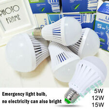 Energy Saving Rechargeable LED E27 Intelligent Light Bulb Lamp Emergency Lights.