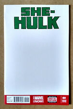 SHE-HULK #1 FIRST PRINT - BLANK VARIANT COVER MARVEL COMICS (2014)