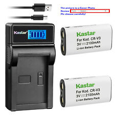 Kastar Battery LCD Charger for Pentax CR-V3 & DigiBino 100 Optio 230 Optio 30