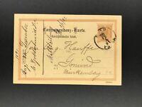 Ganzsache Österreich 2 Kreuzer Prag nach Schwäbisch Gmünd 1891