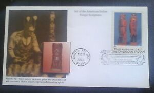 First day of issue, 2004 Art of the American Indian, Tlingit Sculptures # 3873c