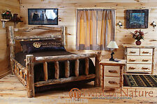Log Bedroom set Free shipping!! King Size! Log Bed Log Furniture LOG BED