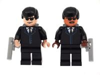 Custom Designed Minifigures -  Agents J & K Men In Black Printed On LEGO Parts