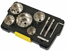 9 PEZZI DIAMOND CORE Hole Saw Set Punte di Trapano Piastrelle In Ceramica Porcellana Marmo in vetro