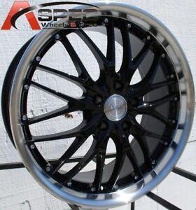 MRR GT1 20x8.5 5x114.3 ET35 Black Wheels Fits Infiniti G35 G37 Sedan 350Z 300X